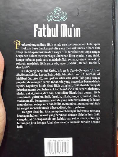 Buku Fathul Mu'in Fikih Lengkap Madzhab Syafii Cover 2