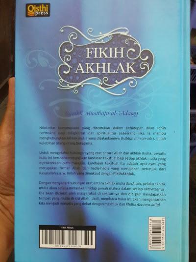 Buku Fikih Akhlak Cover Belakang