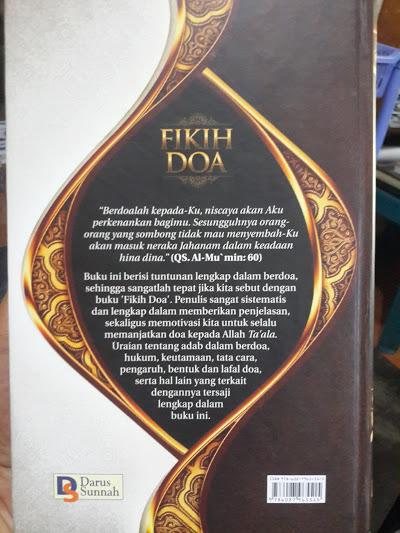 Buku Fikih Doa Cover Belakang