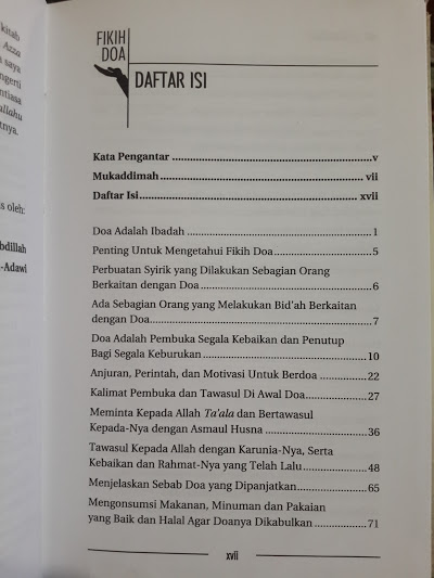 Buku Fikih Doa Daftar Isi