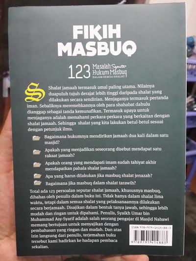 Buku Fikih Masbuq 123 Masalah Seputar Hukum Masbuq Shalat Cover 2