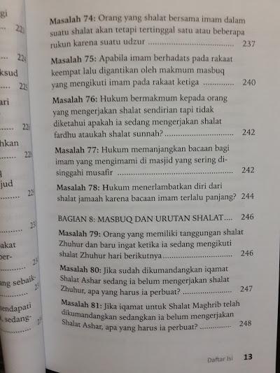 Buku Fikih Masbuq 123 Masalah Seputar Hukum Masbuq Shalat Daftar Isi