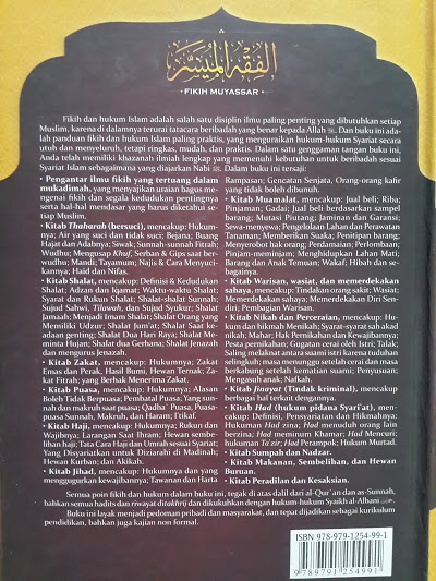 Buku Fikih Muyassar Panduan Praktis Fikih Dan Hukum Islam Cover 2