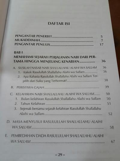 Buku Fikih Sirah Nabawiyah Mendulang Hikmah Dari Sejarah Rasulullah Daftar Isi