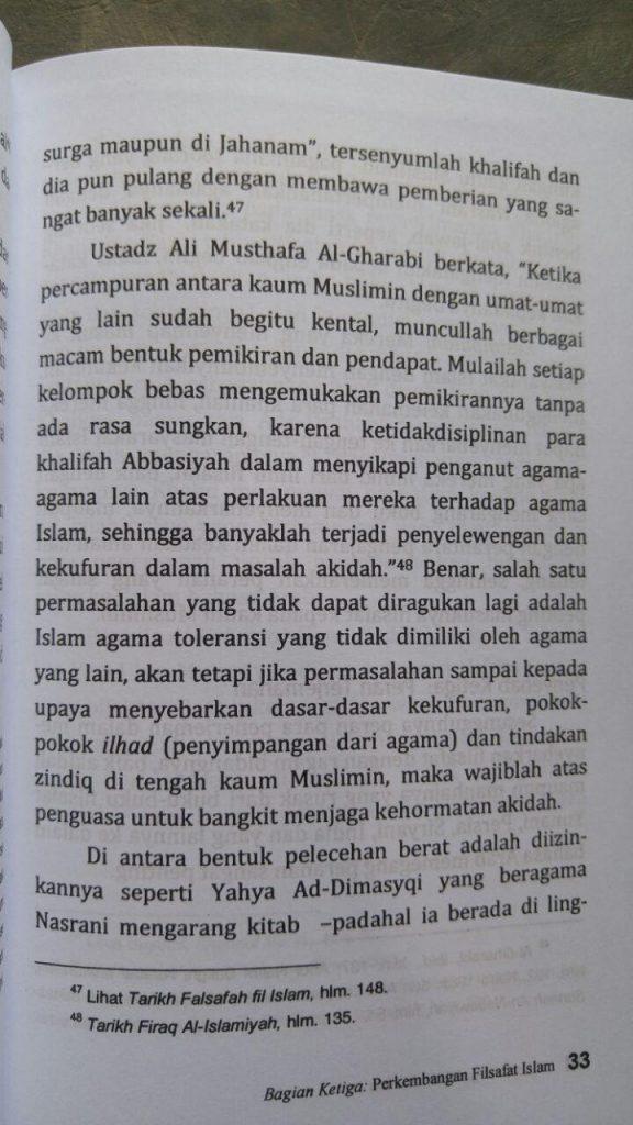 Buku Filsafat Begal Akidah Islam isi 2