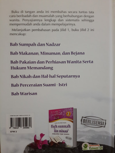 Buku Fiqh Sunnah Lin Nisaa Ensiklopedi Fiqih Wanita Cover 2