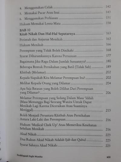 Buku Fiqh Sunnah Lin Nisaa Ensiklopedi Fiqih Wanita Daftar Isi