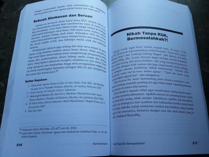 Buku Fiqih Kontemporer Berdasarkan Dalil Dan Kaidah Ilmiyah Isi