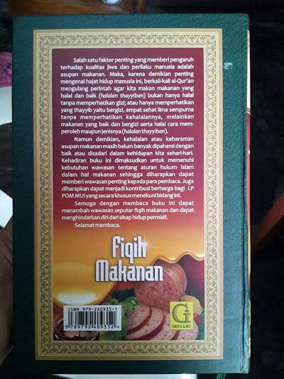 Buku Fiqih Makanan Cover Belakang