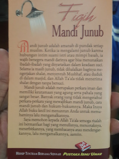 Buku Saku Fiqih Mandi Junub Cover 2