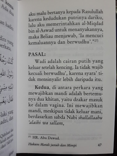 Buku Saku Fiqih Mandi Junub Isi