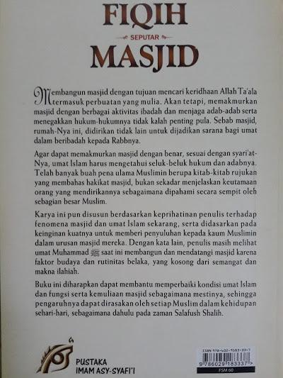Buku Fiqih Seputar Masjid Cover Belakang
