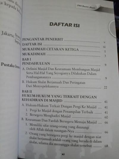Buku Fiqih Seputar Masjid Daftar Isi