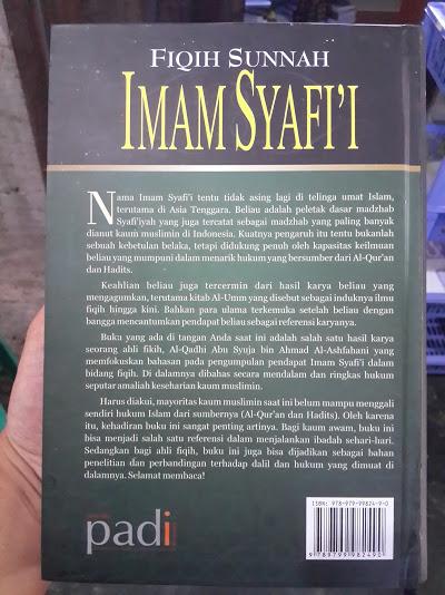 Buku Fiqih Sunnah Imam Syafi'I Pedoman Amaliah Muslim Cover Belakang