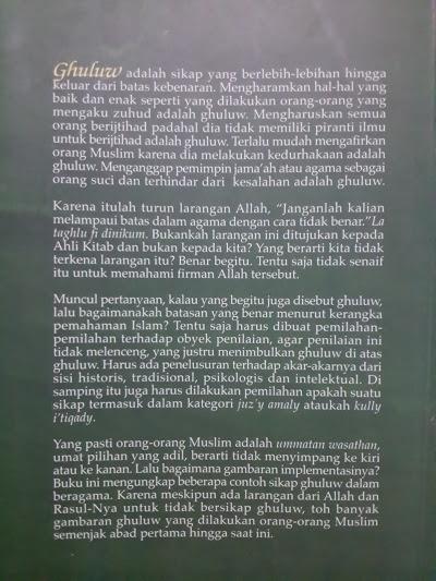 Buku Ghuluw Benalu Dalam Ber-Islam Cover Belakang