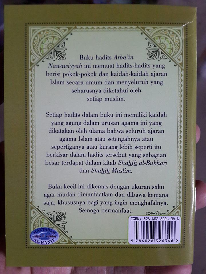 Buku Saku Hadits Arba'in Nawawiyyah Cover 2
