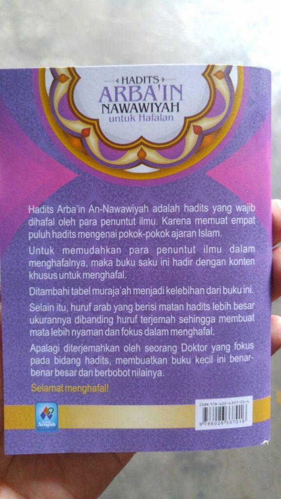 Buku Hadits Arba'in Nawawiyah Untuk Hafalan cover 2