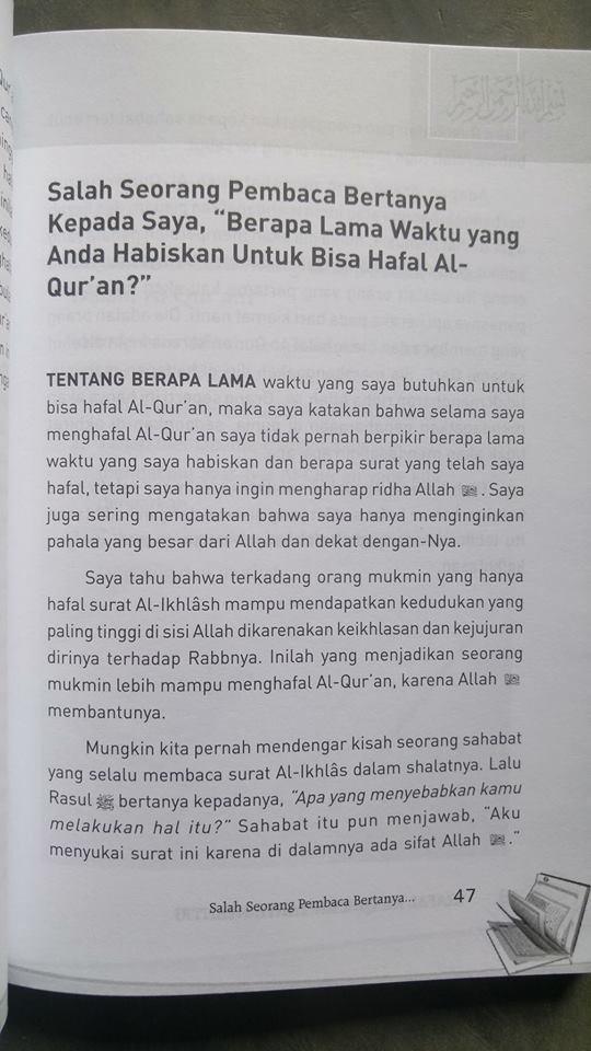 Buku Hafal Al-Qur'an Tanpa Nyantri isi