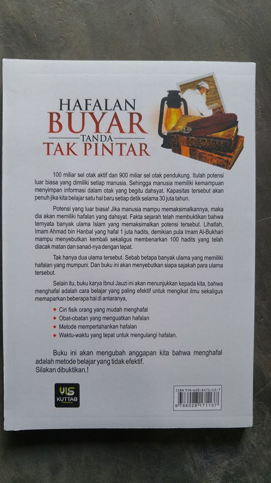 Buku Hafalan Buyar Tanda Tak Pintar cover 2
