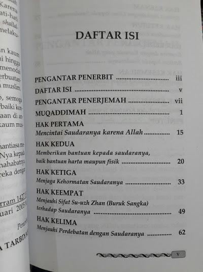 Buku Hak Hak Persaudaraan Islam Daftar Isi