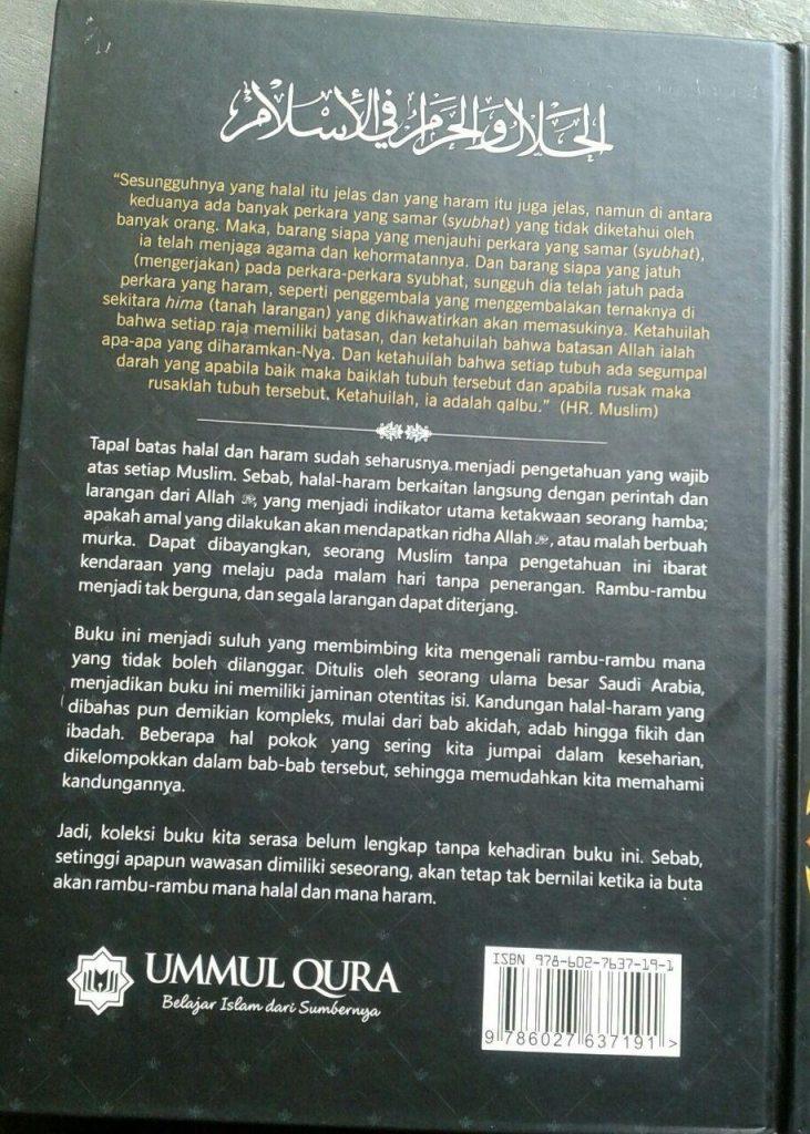 Buku Halal & Haram Dalam Islam cover