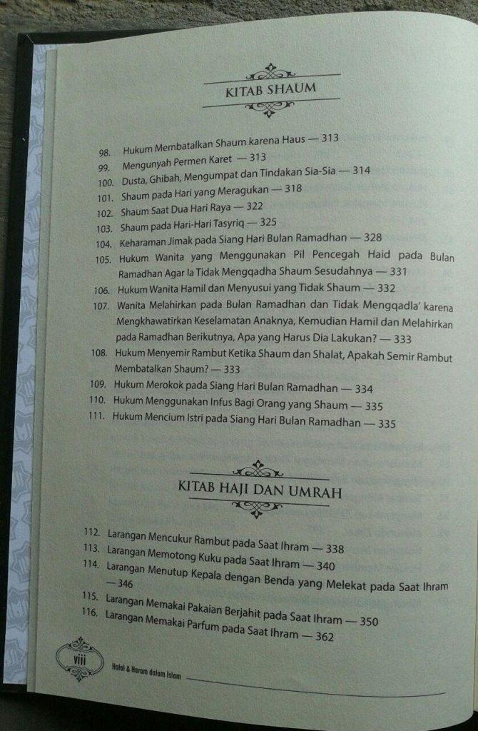 Buku Halal & Haram Dalam Islam isi 3