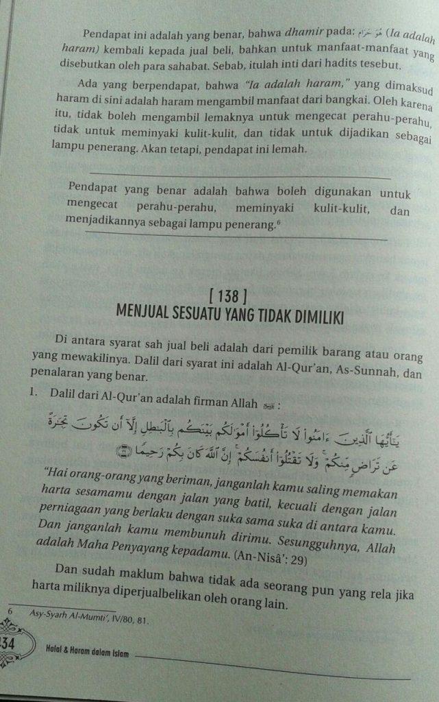Buku Halal & Haram Dalam Islam isi 7