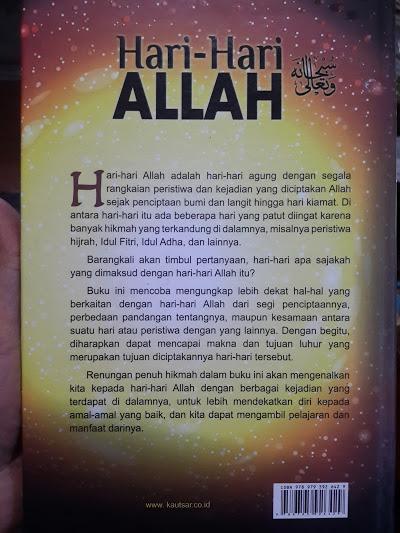 Buku Hari Hari Allah Momen Bersejarah Yang Allah Muliakan Cover 2