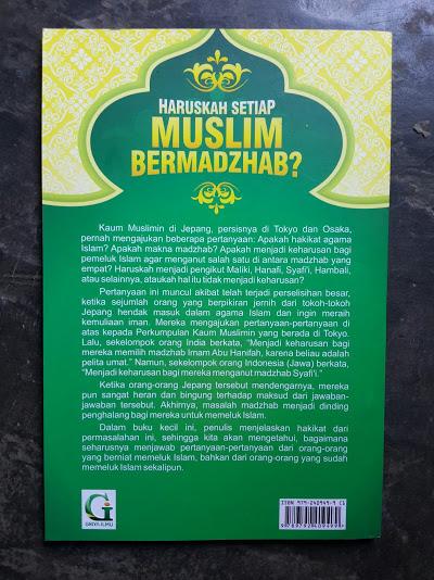 Buku Haruskah Setiap Muslim Bermadzhab Cover Belakang