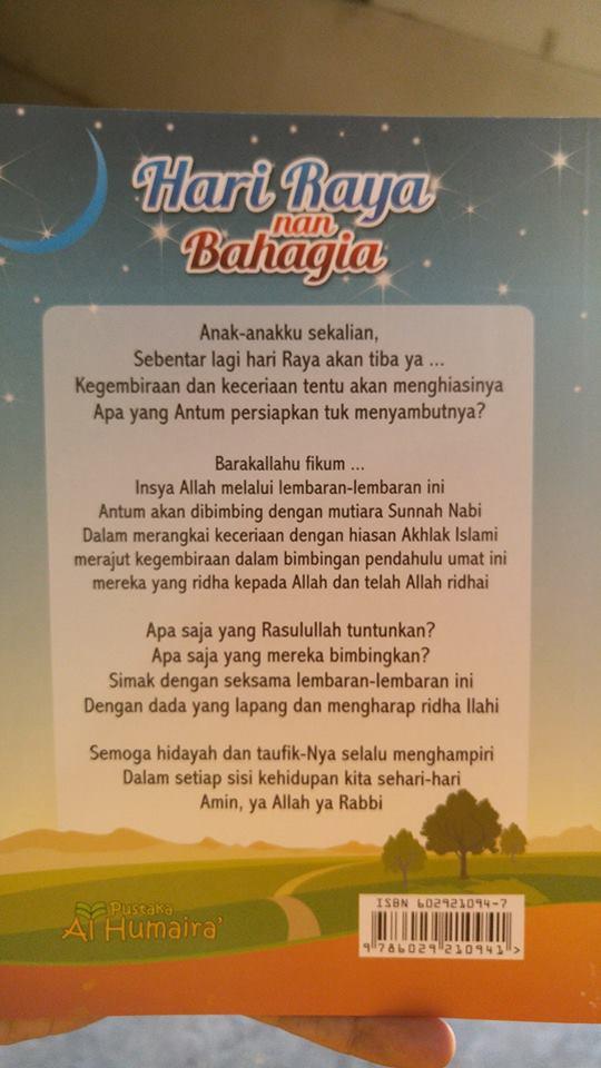 Buku Anak Hidup Sehari-hari Dengan Sunnah Nabi (Hari Raya) cover 2