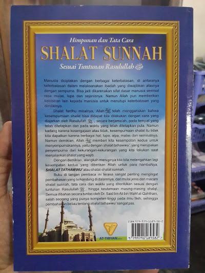 Buku Himpunan Dan Tata Cara Shalat Sunnah Sesuai Tuntunan Cover Belakang