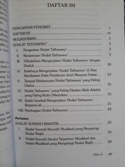 Buku Himpunan Dan Tata Cara Shalat Sunnah Sesuai Tuntunan Daftar Isi