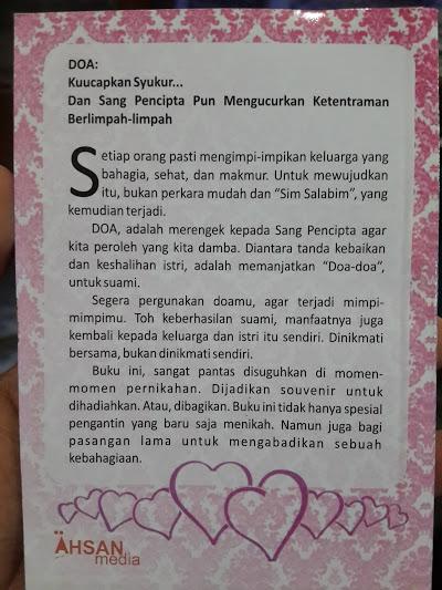 Buku Saku Himpunan Doa Dan Amalan Istri Shalihah Cover 2