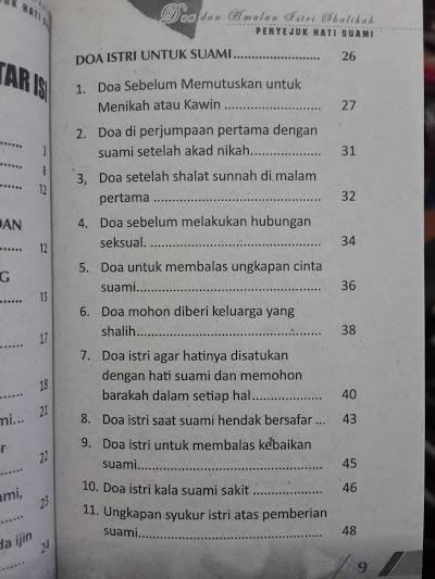 Buku Saku Himpunan Doa Dan Amalan Istri Shalihah Daftar Isi