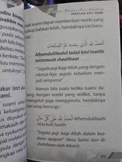 Buku Saku Himpunan Doa Dan Amalan Istri Shalihah Isi