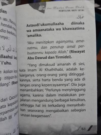 Buku Saku Himpunan Doa Dan Amalan Suami Shalih Isi