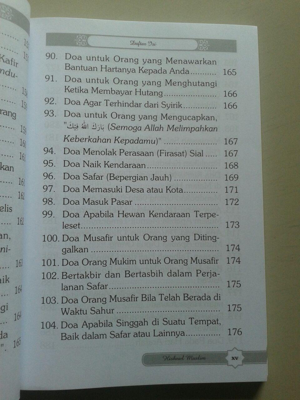 Buku Hisnul Muslim Kumpulan Doa & Dzikir Pilihan isi 2