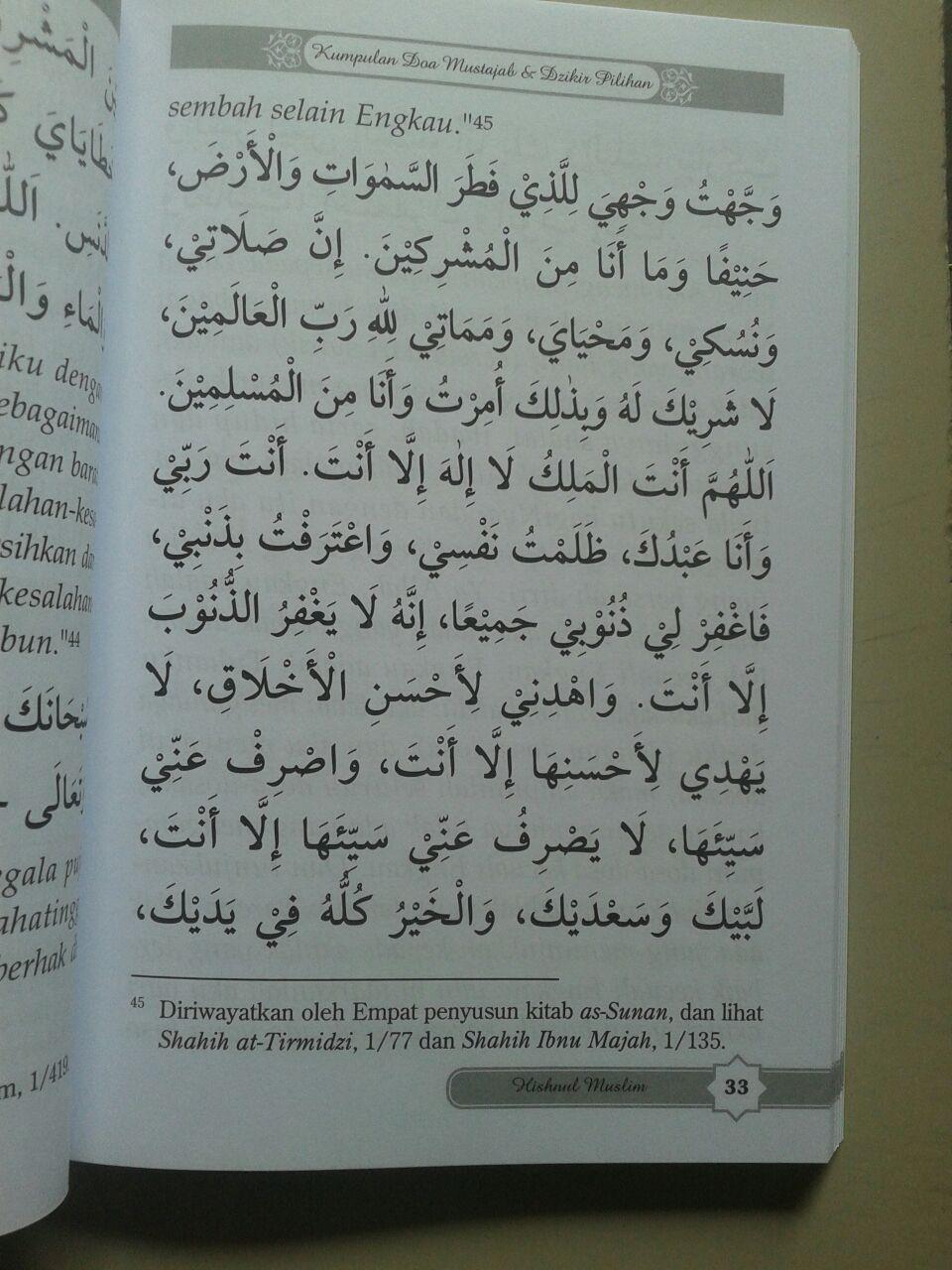 Buku Hisnul Muslim Kumpulan Doa & Dzikir Pilihan isi 3
