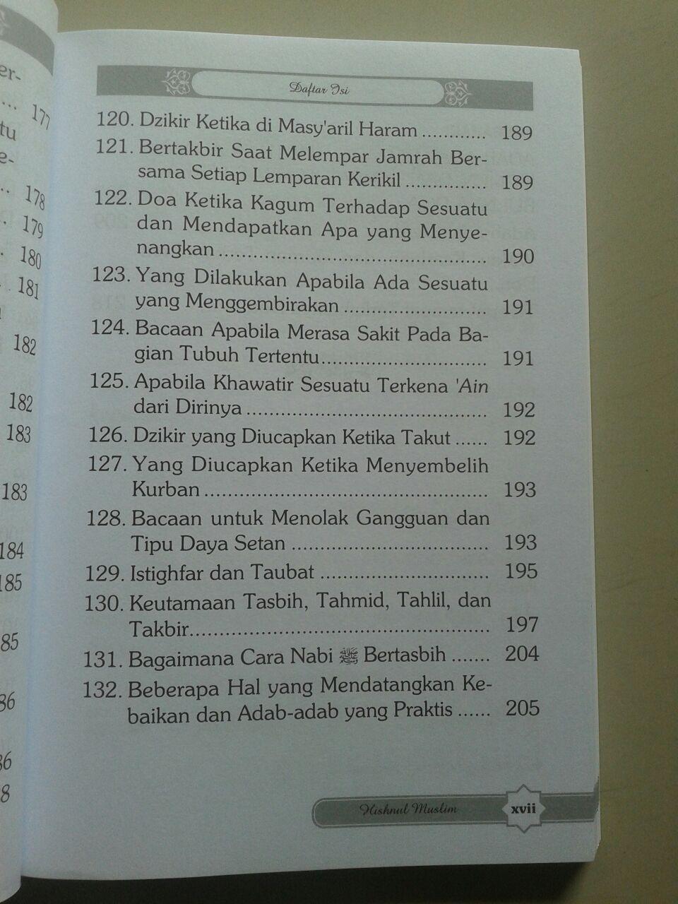 Buku Hisnul Muslim Kumpulan Doa & Dzikir Pilihan isi