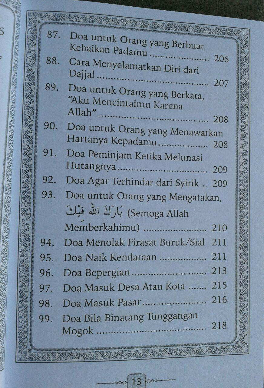 Buku Saku Hisnul Muslim Panduan Doa & Dzikir Sehari Hari isi 2