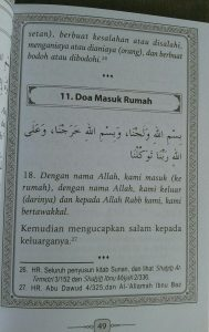 Buku Saku Hisnul Muslim Panduan Doa & Dzikir Sehari Hari isi 3