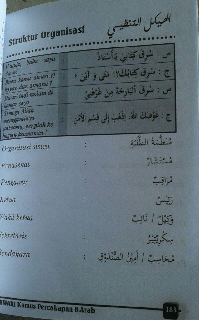 Buku Hiwari Kamus Percakapan Bahasa Arab isi 3