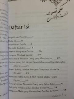 Buku Hukum Menggambar Makhluk Bernyawa Daftar Isi