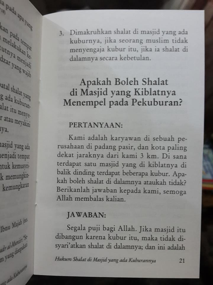 Buku Saku Hukum Shalat Di Masjid Yang Ada Kuburannya Isi