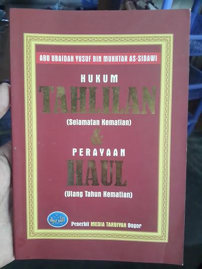 Buku Hukum Tahlilan Dan Perayaan Haul Kematian Cover