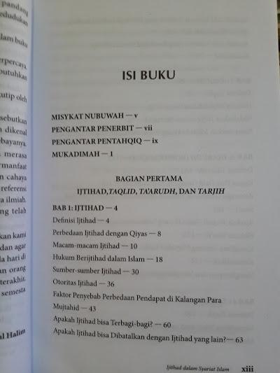 Buku Ijtihad Dalam Syariat Islam Daftar Isi