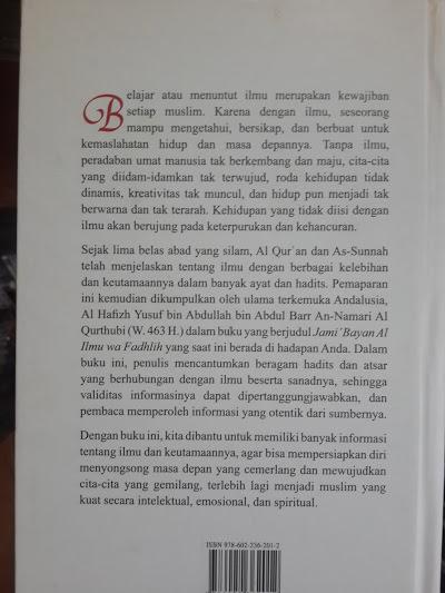 Buku Ilmu Dan Keutamaannya Cover 2