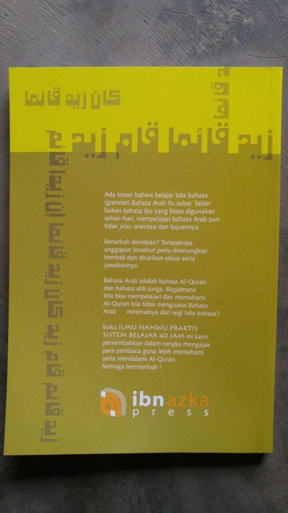 Buku Ilmu Nahwu Praktis Sistem Belajar 40 Jam cover 2