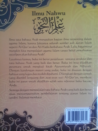 Buku Ilmu Nahwu Terjemahan Mutammimah Ajurumiyah Cover Belakang