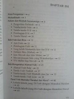 Buku Ilmu Nahwu Terjemahan Mutammimah Ajurumiyah Daftar Isi